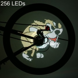 image of FT - 801 256 LEDS DIY BICYCLE WATERPROOF COLORFUL CHANGING VIDEO PICTURES BIKE WHEEL SPOKE LIGHT (TRANSPARENT)