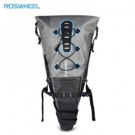 image of ROSWHEEL 7L BICYCLE CYCLING WATER RESISTANT PANNIER BAG (GRAY)