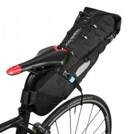 image of ROSWHEEL 131372 WATER-RESISTANT 10L BIKE TAIL BAG BICYCLE REAR PACK (BLACK)