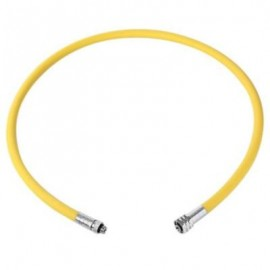 image of EZDIVE 38 INCH YELLOW NYLON BRAIDED LOW PRESSURE HOSE FOR SECOND STAGE OCTO REGULATOR - 30 BAR (YELLOW)