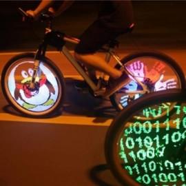 image of YQ8003 BICYCLE LIGHT DIY PROGRAMMABLE LED WHEEL LIGHT WATERPROOF FOR 26 INCH BIKE WHEEL (BLACK)