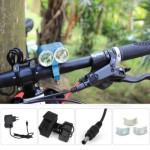 DARK KNIGHT K2E 2 X CREE XML-T6 LED BIKE HEADLIGHT 4 MODES BICYCLE LIGHT - EU PLUG 2400LM 7000K (BLUE) EU PLUG