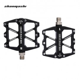 image of SHANMASHI SMS - 418 PAIRED 4 BEARINGS ROAD MOUNTAIN BICYCLE PEDAL (BLACK)