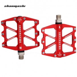 image of SHANMASHI SMS - 418 PAIRED 4 BEARINGS ROAD MOUNTAIN BICYCLE PEDAL (RED)