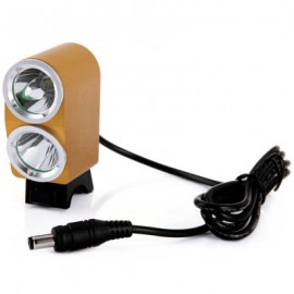 image of DARK KNIGHT K2G 2 X CREE XML-L2 LED BIKE HEADLIGHT 3 MODES BICYCLE LIGHT - 2400LM 7000K (GOLDEN) EU PLUG