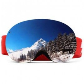 image of LY - 49 SPHERICAL SKI GOGGLES SNOWBOARD GLASSES UV PROTECTION LENS (CLARET)