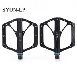 image of SYUN-LP PAIRED FASHION ALUMINUM ALLOY BIKE PEDAL FOR MOUNTAIN ROAD BICYCLE (BLACK)