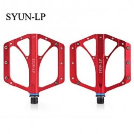 image of SYUN-LP PAIRED FASHION ALUMINUM ALLOY BIKE PEDAL FOR MOUNTAIN ROAD BICYCLE (RED)