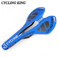 image of CYCLING KING BICYCLE MTB BIKE DURABLE 3K FULL CARBON SEAT SADDLE (BLUE) 27.50 x 14.00 x 4.00 cm