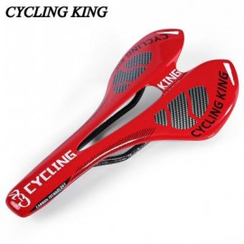 image of CYCLING KING BICYCLE MTB BIKE DURABLE 3K FULL CARBON SEAT SADDLE (RED) 27.50 x 14.00 x 4.00 cm