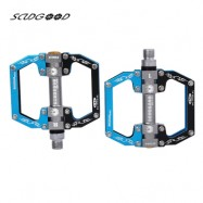 image of SCUDGOOD SG - 12S PAIR OF OUTDOOR CYCLING MOUNTAIN BICYCLE PEDAL (BLACK AND BLUE)