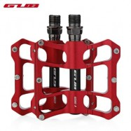 image of GUB GC060 PAIRED ANTI-SLIP BICYCLE ALUMINUM ALLOY PEDAL (RED)