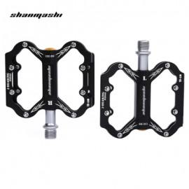 image of SHANMASHI SLIP-RESISTANT PAIRED ALUMINIUM ALLOY BICYCLE PEDAL (BLACK)