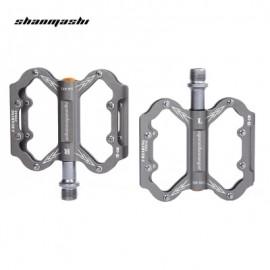 image of SHANMASHI SLIP-RESISTANT PAIRED ALUMINIUM ALLOY BICYCLE PEDAL (TITANIUM GREY)