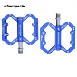 image of SHANMASHI SLIP-RESISTANT PAIRED ALUMINIUM ALLOY BICYCLE PEDAL (BLUE)