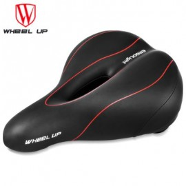image of WHEELUP MOUNTAIN BIKE SADDLE SEAT TAILLIGHT CYCLING TOOL (RED WITH BLACK)