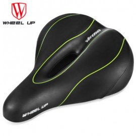 image of WHEELUP MOUNTAIN BIKE SADDLE SEAT TAILLIGHT CYCLING TOOL (BLACK AND GREEN)