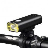 image of GACIRON USB RECHARGEABLE WATERPROOF BIKE FRONT HANDLEBAR CYCLING LED LIGHT FLASHLIGHT TORCH HEADLIGHT (BLACK)