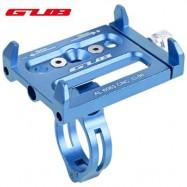 image of GUB ALUMINUM ALLOY ADJUSTABLE BICYCLE PHONE HOLDER BIKE HANDLEBAR MOUNT STAND (BLUE) 14.30 x 9.30 x 2.50 cm