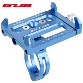 image of GUB ALUMINUM ALLOY ADJUSTABLE BICYCLE PHONE HOLDER BIKE HANDLEBAR MOUNT STAND (BLUE) 14.30 x 9.30 x 2.50 cm