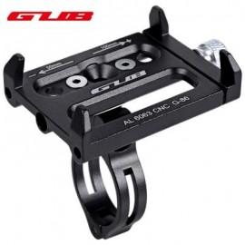 image of GUB ALUMINUM ALLOY ADJUSTABLE BICYCLE PHONE HOLDER BIKE HANDLEBAR MOUNT STAND (BLACK) 14.30 x 9.30 x 2.50 cm