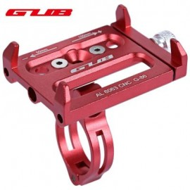 image of GUB ALUMINUM ALLOY ADJUSTABLE BICYCLE PHONE HOLDER BIKE HANDLEBAR MOUNT STAND (RED) 14.30 x 9.30 x 2.50 cm