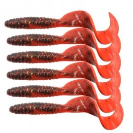 image of HONOREAL 6.5CM BASS LURE FOR DEEP AND SHALLOW WATER FISHING BAITS 6PCS (RED) 0