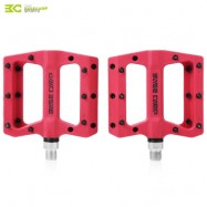 image of BASECAMP BC - 672 PAIRED FASHION NYLON BIKE PEDAL FOR MOUNTAIN ROAD BICYCLE (RED)