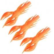 image of HONOREAL 7.5CM SHRIMP SHAPE SOFT BAIT FISHING LURE 3PCS (ORANGE AND YELLOW) 0