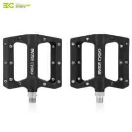 image of BASECAMP BC - 672 PAIRED FASHION NYLON BIKE PEDAL FOR MOUNTAIN ROAD BICYCLE (BLACK) 10.50 x 12.50 x 2.00 cm