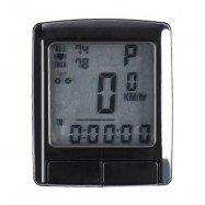 image of SUNDING SD - 565 OUTDOOR MULTIFUNCTION WATER RESISTANT CYCLING ODOMETER SPEEDOMETER WIRELESS HEART RATE MONITOR (BLACK)