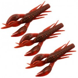 image of HONOREAL 7.5CM SHRIMP SHAPE SOFT BAIT FISHING LURE 3PCS (RED WITH BLACK) 0