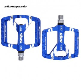 image of SHANMASHI PAIRED OUTDOOR CYCLING ROAD MOUNTAIN BICYCLE PEDAL (BLUE)