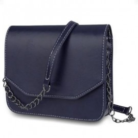 image of GUAPABIEN MAGNET BUTTON CHAIN BELT STRAP SOLID COLOR SHOULDER MESSENGER BAG HORIZONTAL