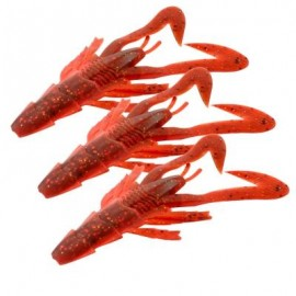 image of HONOREAL 6.5CM DIFFERENT COLOR ARTIFICIAL FISHING SHRIMP LURE SOFT BAIT 3PCS (RED) 0