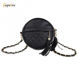 image of GUAPABIEN ROUND PLAID TASSEL DETACHABLE CHAIN BELT STRAP SHOULDER MESSENGER BAG ??