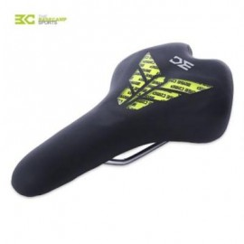 image of BASECAMP CYCLING SEAT BIKE SADDLE SILICONE CUSHION FOR MOUNTAIN ROAD BICYCLE (BLACK AND GREEN)