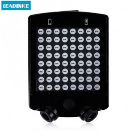 image of LEADBIKE 64 LEDS WIRELESS LASER BICYCLE REAR TAILLIGHT BIKE TURN LIGHT (BLACK)
