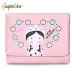 GUAPABIEN FOLDABLE SHORT CLUTCH WALLET GIRLS CARD HOLDER (PINK) -