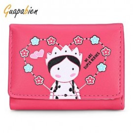 image of GUAPABIEN FOLDABLE SHORT CLUTCH WALLET GIRLS CARD HOLDER (TUTTI FRUTTI) -
