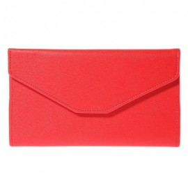 image of GUAPABIEN SOLID COLOR SNAP FASTENER CELL PHONE ENVELOPE CLUTCH WALLET -
