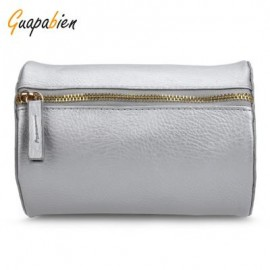 image of GUAPABIEN CYLINDER PATTERN SOLID COLOR DUAL PURPOES SHOULDER MESSENGER MINI BAG FOR WOMEN HORIZONTAL