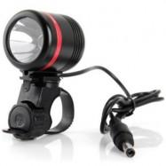 image of DARK KNIGHT K1SR CREE XPE-R3 LED HEADLIGHT USB DESK LAMP 6 MODES HEADLAMP BICYCLE TENT LIGHT - 350LM 7000K (RED)