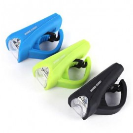 image of BASECAMP MTB BICYCLE 3W LED SILICA GEL WATERPROOF USB CHARGING FRONT LIGHT LAMP 8.40 x 4.00 x 6.00 cm