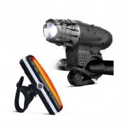 image of CYCLING LIGHT 4 MODEL LED 200 LUMEN USB RECHARGEABLE SAFETY FLASHLIGHT LAMP LIGHTS WATERPROOF TAILLIGHT BICYCLE ACCESSOR (BLACK)