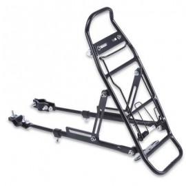 image of ALUMINUM ALLOY BICYCLE RACK CARRIER REAR LUGGAGE CYCLING SEAT SHELF FOR V-BRAKE BIKE 39.00 x 14.00 x 32.00 cm