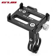 image of GUB G88 ALUMINUM ALLOY STRETCHABLE BICYCLE PHONE HOLDER (BLACK)