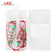 image of LEO 2PCS FISHING EXPLOSION BAIT BARB FISHHOOK LURE TACKLE WITH BOX (COLORMIX) NUMBER 13
