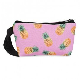image of GUAPABIEN TRENDY COLORFUL PATTERN PRINT COSMETIC POCKET MONEY MOBILE PHONE BAG FOR LADIES (PINEAPPLE) -