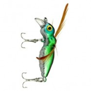 image of 45MMÂ CICADA FISHING BAIT INSECT FISH LURE BAITS TACKLE HOOK (BLUE WITH GREEN) -